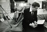 James_Dean_reading_music_score_for_Rebel_Without_cause