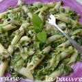 Salade de pâtes aux poireaux - sauce thon et anchois