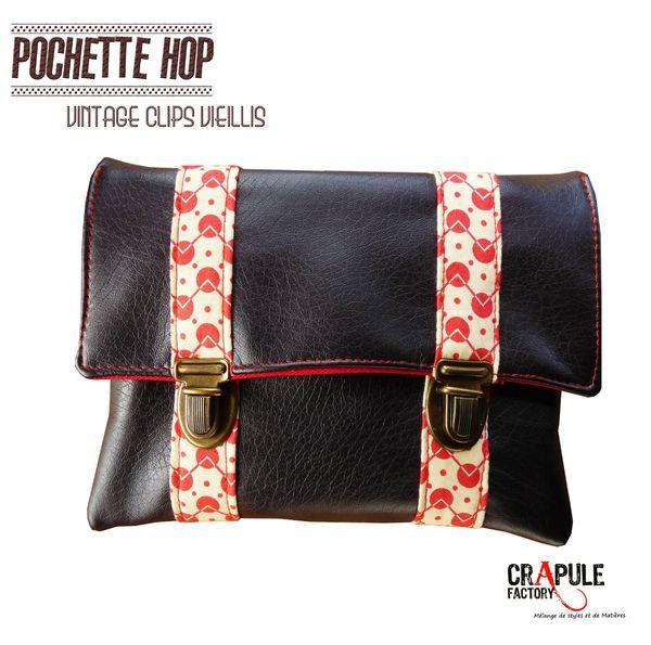 pochette hop marron 2 clips 2