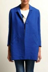 manteau bleu maje