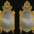 A pair of north italian late baroque carved giltwood mirrors. lombardy, probably milan, mid-18th century - sotheby's