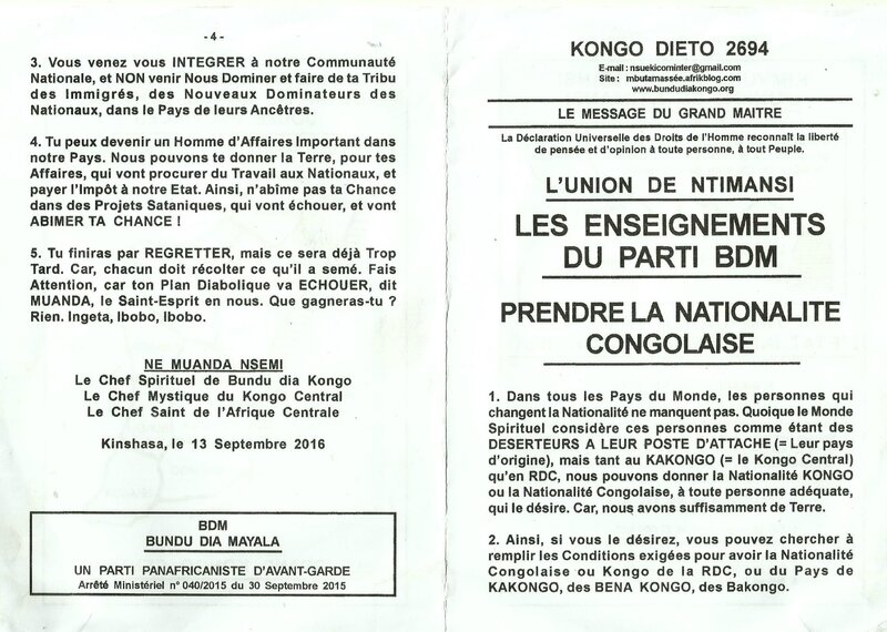 PRENDRE LA NATIONALITE CONGOLAISE a