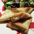 Samossas poulet / tomates / pesto