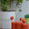 Soupe de fraises express