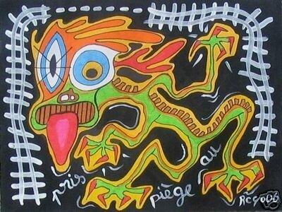 ROYO Pris au piège 2006 24 x 32