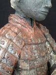 Xian 2, samouraï, sculpture,céramique, modelage,argile,terre,soldat,chinois,japonais,guerrier,émaux,raku (8)