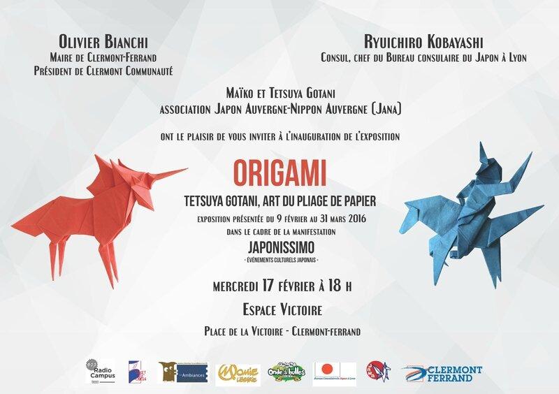 Carton invitation Origami-Japonissimo 2016