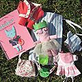 Mini poupée tissu et sa garde robe