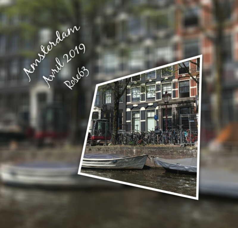 Amsterdam avril 2019 les canaux Rose63