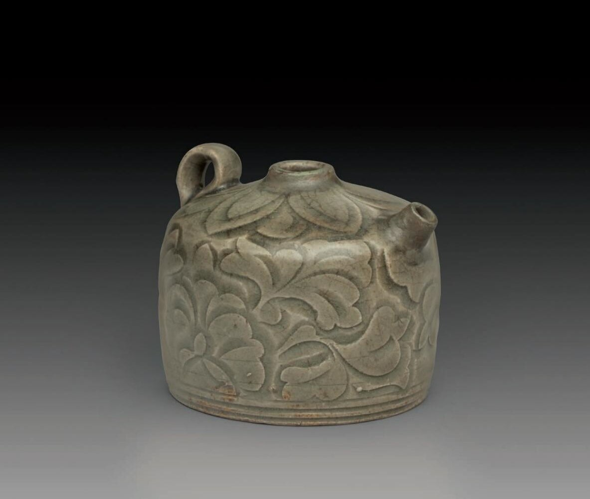 A_rare_small_carved_Yaozhou_ewer__Northern_Song_Jin_dynasty__AD_960_1234_