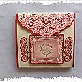 La pochette romantique pour offrir des tamponnades et des découpes
