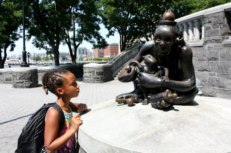 J2 - 29 juin 2014 - square Hudson park - Tom Otterness (1)