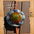 collier disque orange vert 4