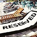 Serviette de plage reserved - reserved beach towel - coolgift