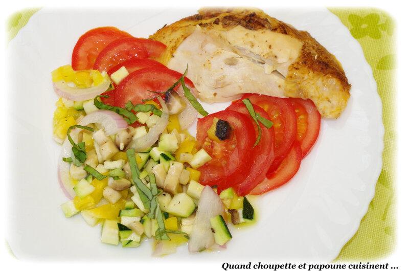 salade multicolore et poulet rôti-5447