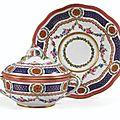 Ecuelle ronde couverte et son plateau circulaire en porcelaine tendre de sèvres, datée 1767 - sotheby's