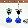 bijoux-mariage-soiree-temoin-boucles-d-oreilles-cristal-et-fleurs-en-résine-et-libellules