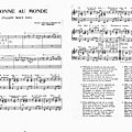 Personne au monde (partition - sheet-music)