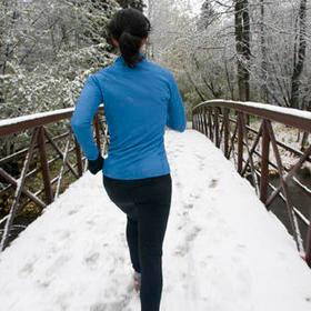 la marche sous la neige