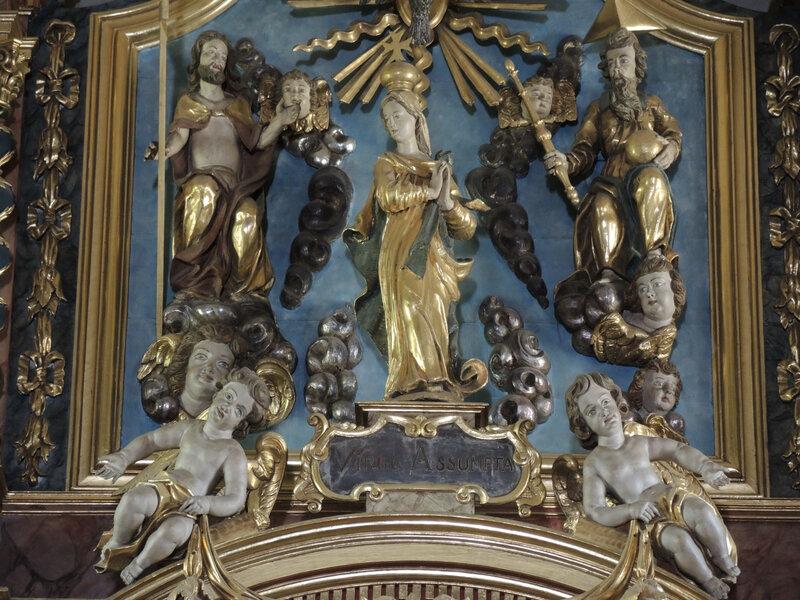Combloux, église Saint-nicolas, retable, détail (74)