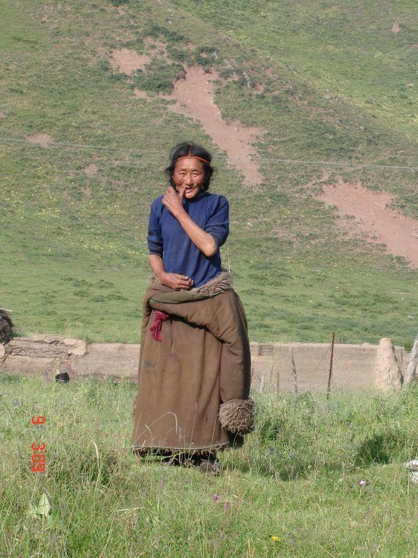 paysanne au tibet