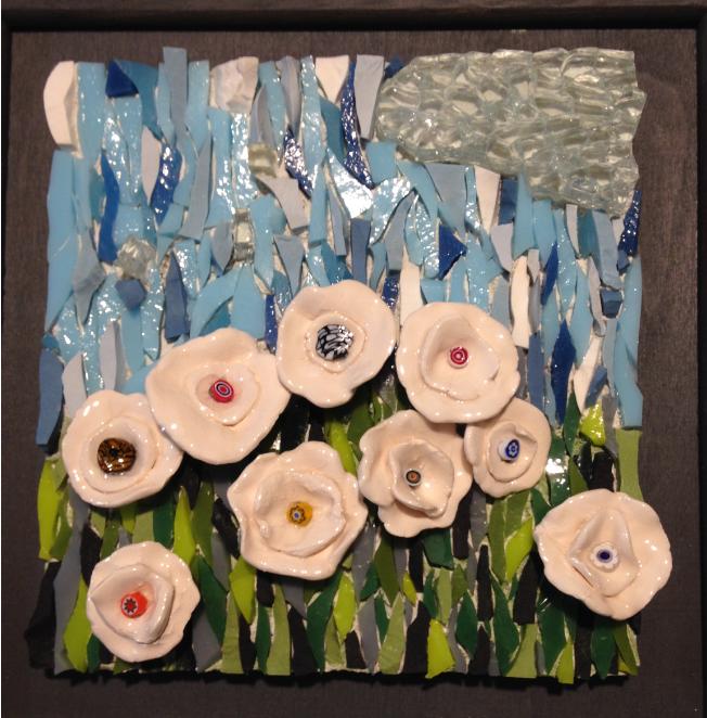 petit tableau avec fleurs