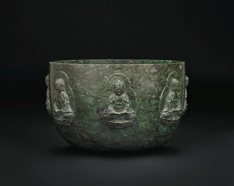 2019_NYR_16950_0844_000(a_rare_and_large_mottled_dark_green_jade_alms_bowl_qianlong_period)