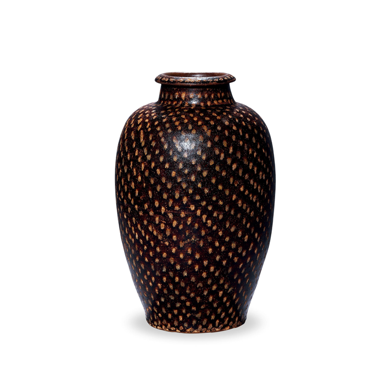 A Jizhou Iron-Spot Decorated Vase, Meiping, Southern Song Dynasty, 1127-1279