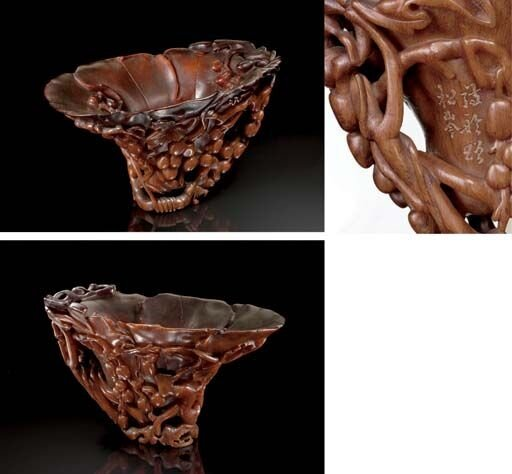 A_large_rhinoceros_horn__Grape_wine__libation_cup__17th_18th_century