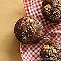 Muffins au chocolat et pépites de chocolat blanc