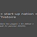 Le cvuh et la start-up nation
