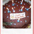 Le gâteau d'anniversaire de mon loulou