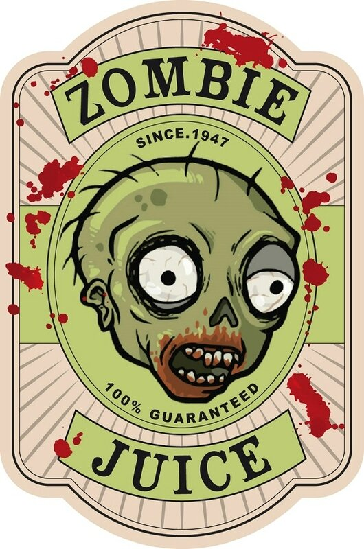 label zombie juice halloween