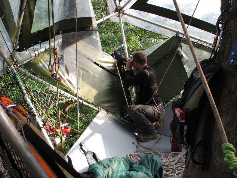 Observation depuis l'Ikos à 40 mètres de haut_Laos2012_XRufray