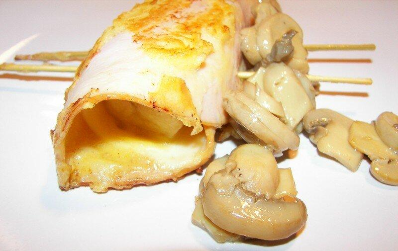 Jambon pané avec de la pâte à crêpes