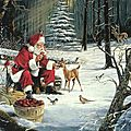 pere-noel-animaux-foret