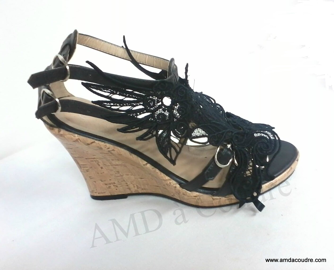 broderie chaussure amd a coudre