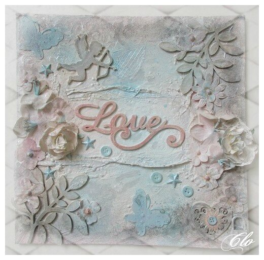 Canvas Mixed Media Shabby