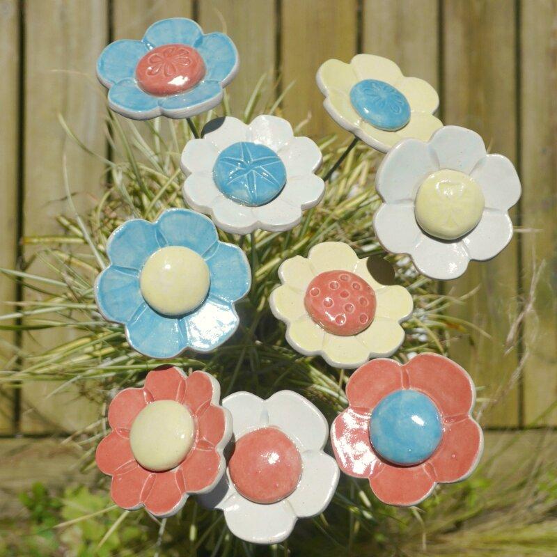 fleurs argile & barbotine
