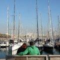 Barcelone, le port, amoureux_6389