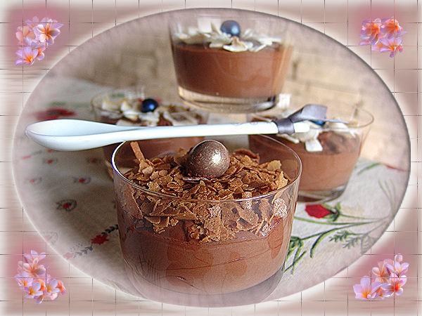 Mousse au chocolat à l'Amarula de Cuisineflo
