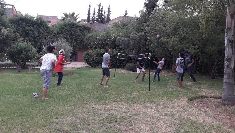 s'entraîner au volley
