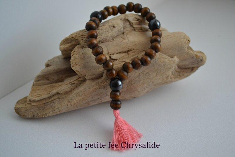 Bracelet perles en bois (3)