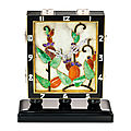 Art deco multi-gem clock, van cleef & arpels