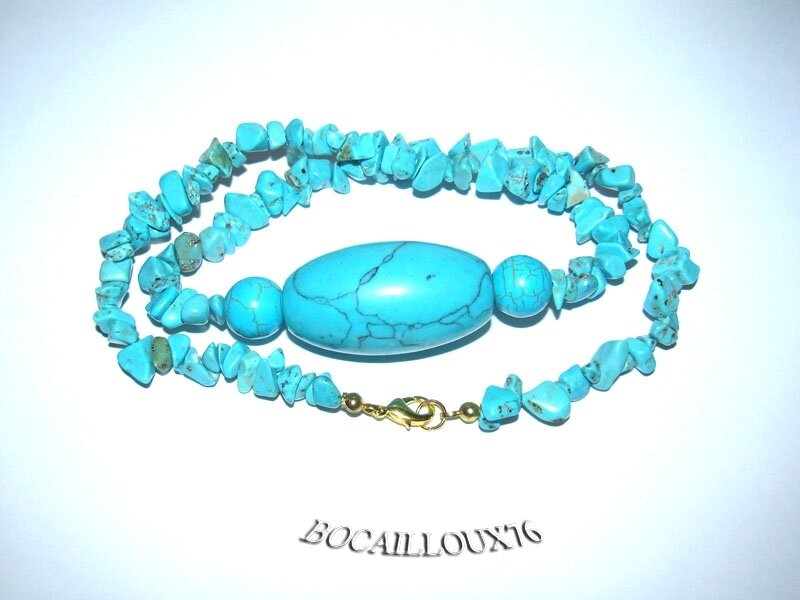 Collier HOWLITE Turquoise 2 (4)