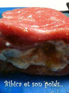 Escalope de veau au fromage frais crue