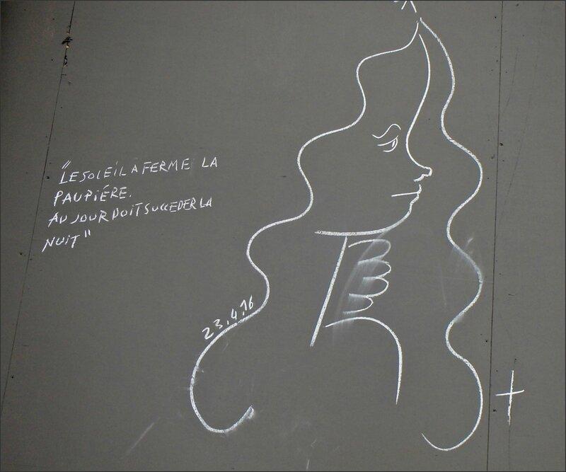 graff poeme paupiere visage ange Pl Republique Paris 052016