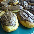Mini-éclairs au chocolat, glaçage gianduja