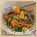 Salade jaune et orange