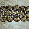 bracelet noir et or